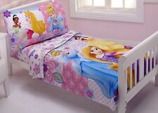 NEW DISNEY PRINCESS ARIEL BELLE CINDERELLA WISHES AND DREAMS TODDLER BED SET 4PC