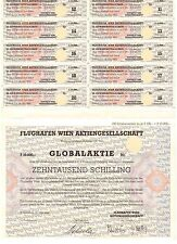Flughafen Wien AG 10000 Schilling Schwechat 1992 Globalaktie