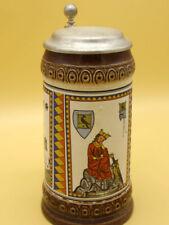Bierkrug Motivkrug König Chunrat der Junge Walther von der Vogelweide  [Schw 183