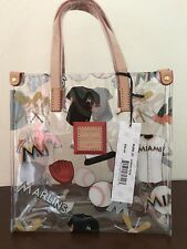 Dooney & Bourke Logo Clear Lunch Small Tote Hand Bag Purse Transparent ~Marlins