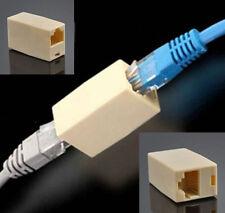 2PCS Extensor RJ45 Cable Ethernet Connector Carpintero Acoplador Recto Red Plug