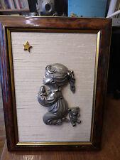 les étains du prince - encadré : petite fille, nounours , étoile