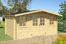SOFORT ABHOLBEREIT 34 mm Gartenhaus ca. 400x300 cm Gerätehaus Holz Blockhaus