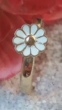 Spinning Ring mit emaillierte Blume 333/- Gelbgold