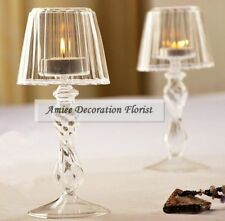 18.5cm Modern Crystal Glass Table Lamp Candle holder Stand  Wedding Home Decor