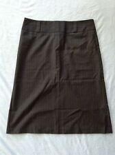 NEW UNITED COLORS OF BENETTON Women Skirt Black With Grey Striped Size 44 SXS