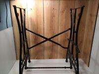 Antique White Sewing Machine Company cast iron treadle base c.1890