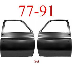 No Shipping 77 91 Chevy Truck Door Set Shell GMC Blazer C/K GM1300102, GM1301102