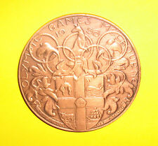 1956 Melbourne Olympic Participation Presentation Medal in Copper Rare 110 Grams