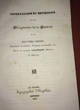 PHLEGMASIES DE LA PROSTATE. 1837. LE VIGAN. MÉDECINE