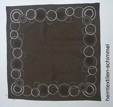 STICKEREI Tischdecke ALLZEIT Mitteldecke KREISE Deckchen braun Decke 85x85cm