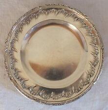 petit plat rond argent massif minerve Armand Gross silver dish 305 grammes