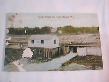 POWER HOUSE AND DAM NEOPIT WI ANTIQUE 1911 POSTCARD        T*