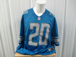 NIKE DETROIT LIONS RB BARRY SANDERS #20 3XL BLUE JERSET NEW W/ TAGS HALL OF FAME