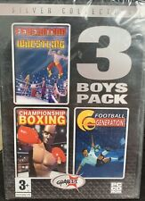 Federation Wrestling , Championship Boxing , Football 3 Boys Pack PC Game - NEW