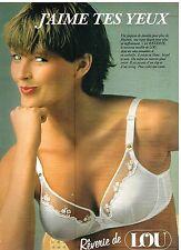 Publicité Advertising 1980 Lingerie sous vetements soutien gorge LOU