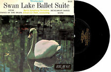 """BERLIN SYMPHONY ORCH - SWAN LAKE BALLET - EP 7"""" 45 VINLY RECORD 1960s"""