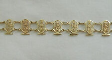 "Egyptian 18K Gold Authentic Cartouche Tut Nefertiti Bracelet 7.75"" (By Order)"