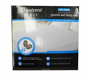 Beautyrest Black Cal King 250TC Cotton Heated Mattress Pad
