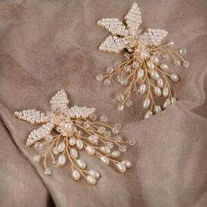 Shoe Clip Handmade Pearl Luxury Wedding Shoes Bride High Heel Decoration Floral