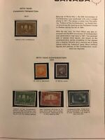 Canada Stamps Collection Scott#135 141-145 Mint H 1917 1927