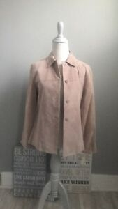 NWT Lord And Taylor Suede Leather Jacket, Petite Small
