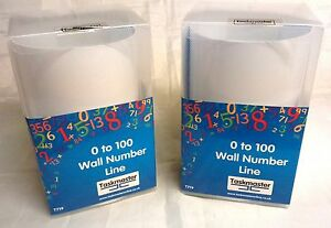 2 Packs Taskmaster 0 To 100 Wall Number Line Complete with  Fixing Pads