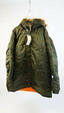 Alpha Industries Herren Winter Jacke Mantel N3B VF 59 grün Gr. 3XL NEU #K537