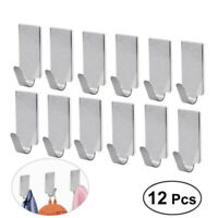 Self Adhesive Hanger Hook Bathroom Wall Door Stainless Steel Sticky Towel Robe