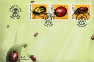 ALAND Is. ANIMAL INSECTS BEETLES full set (3) on FDC 2006 #242-4 Mi 259-61