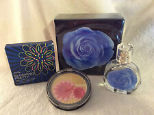 Rare! Mark (Avon) 'Garden Blu' Perfume and Face Powder - New In Box!