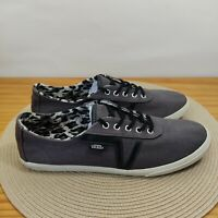 Vans Dixie Grey Oxford Leopard Lined Women's Size 10 Shoes