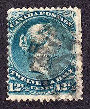 CANADA 1868 - SCOTT 28 - LARGE QUEEN VICTORIA 12½¢ - USED