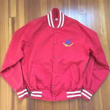 Vintage 1980's Red Walt Disney World Jacket MICKEY MOUSE Varsity Stadium M USA