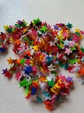 40 Felt die cut mega micro Stars, appliqué sewing card craft toppers decoupage