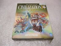 NEW SEALED CIVILIZATION II 2 GOLD (BOX ISSUES BUT SEALED) MICROPROSE BIG BOX PC