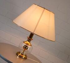 exclusive Tisch Stehleuchte Bankers Lamp Glas Messing Leuchte Vintage 70er Jahre