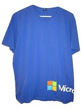 Vintage 90's Microsoft Windows Rainbow Logo Blue Cotton S/S Tee T Shirt L/XL