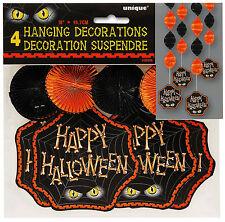 8 x Festa di Halloween Appeso Decorazioni FOIL spirali a buon mercato Halloween Decorazioni