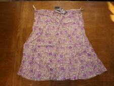 Knee Length Viscose A-line Floral Skirts for Women