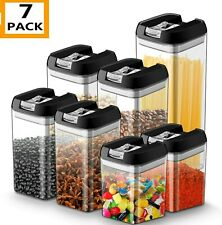 Airtight Food Storage Container Set - 7 PC Set - Labels & Marker - AKAF-USA