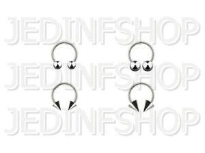 Circular Bar Horseshoe Ring | 0.8mm (20g) - 6mm | Stainless Steel - Balls Spikes