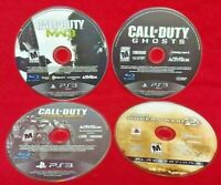 COD Call of Duty 2 3 Ghosts + Advanced Warfare - Game Lot Sony PlayStation 3 PS3