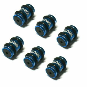 gobike88 MOWA Alloy Donuts For Shift cables, 6 pieces, Blue, N03