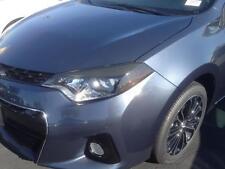 14-16 Corolla Dark Smoke Headlight Eyelid +Side Marker overlays precut 4 pieces
