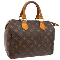 LOUIS VUITTON SPEEDY 25 HAND BAG MONOGRAM CANVAS LEATHER M41528 SP0073 A46825