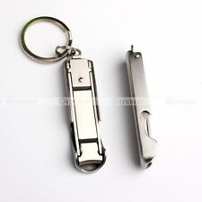 Ultra Slim Small Foldable Nail Clippers Bottle Opener Key Chain Outdoor EDC Tool