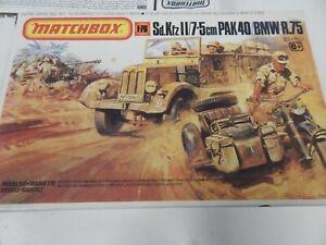 1/76 scale German Sd.KfzII / 7.5cm PAK 40 / BMW R.75 by MATCHBOX