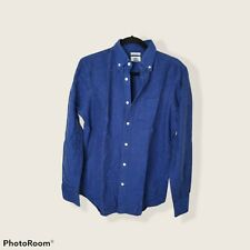 New listing Navy Long Sleeve Button Down Shirt Old Navy S Slim Fit Cotton Oxford Nap