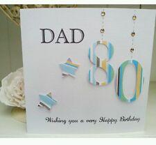 Personalised Handmade Dad Grandad Birthday Card 65th, 40th, 50th 80th ANY AGE
